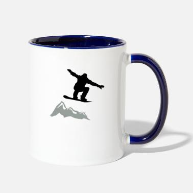 Lumilautailu Snowboarder jump Mountain - Two-Tone Mug