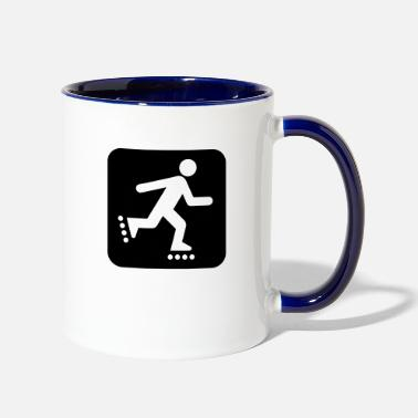 _land_recreation_symbols - Two-Tone Mug