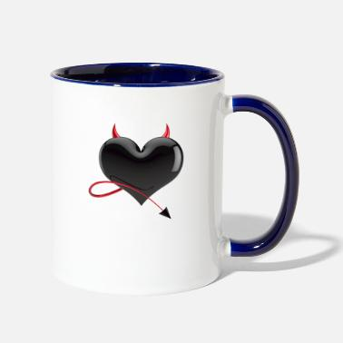 Devil Devil Heart - Two-Tone Mug
