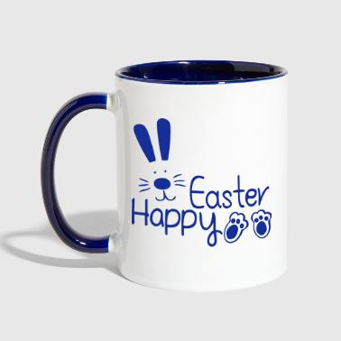happy easter bunny - Contrast Coffee Mug