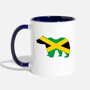 Jamaican Bear - Two-Tone Mug