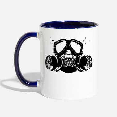 Gas gas mask - Two-Tone Mug