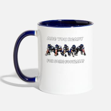 Football Football Game Are You Ready Sports Team - Contrast Coffee Mug
