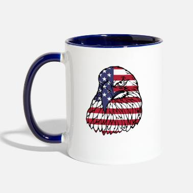 Patriotic America Eagle - Two-Tone Mug