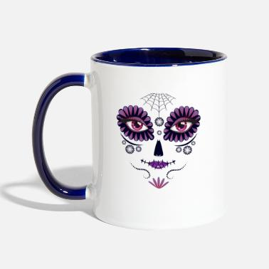 Death Day of the death girl face T Shirt Costume Tee - Two-Tone Mug