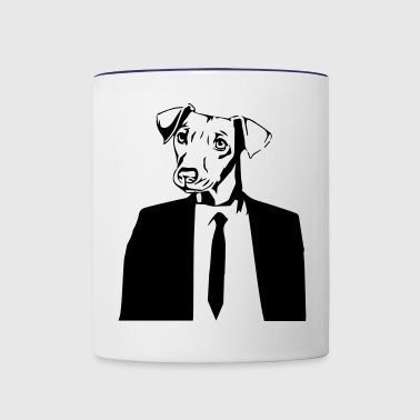 DOG IN SUITE - Contrast Coffee Mug