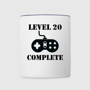 Level 20 Complete 20th Birthday - Contrast Coffee Mug
