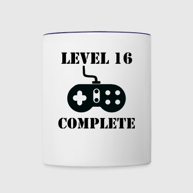 Level 16 Complete 16th Birthday - Contrast Coffee Mug
