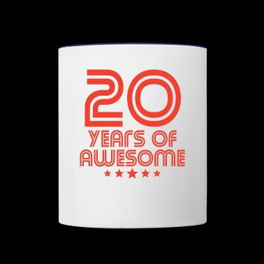 20 Years Of Awesome 20th Birthday - Contrast Coffee Mug
