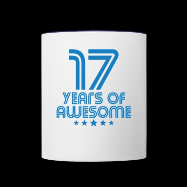 17 Years Of Awesome 17th Birthday - Contrast Coffee Mug