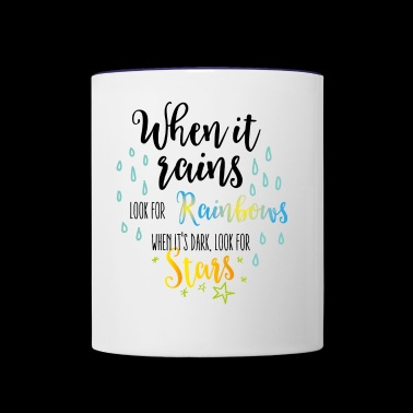 When it rains - Contrast Coffee Mug