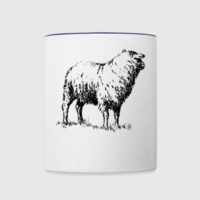 sheep - Contrast Coffee Mug