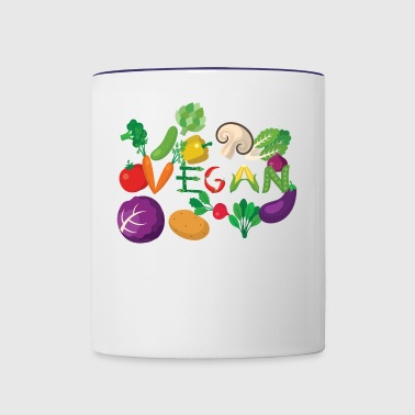 Vegan - Contrast Coffee Mug