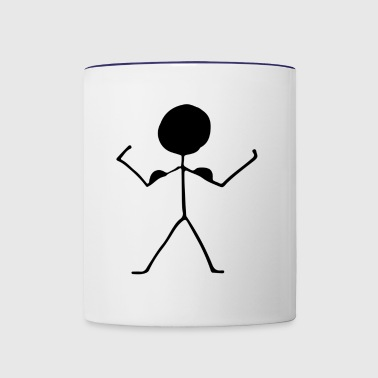 stick figure - Contrast Coffee Mug