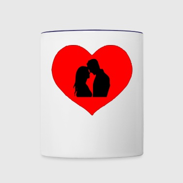 love couple - Contrast Coffee Mug