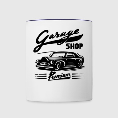 GIFT - GARAGE SHOP BLACK - Contrast Coffee Mug