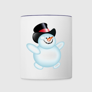 JOLLY SNOWMAN - Contrast Coffee Mug