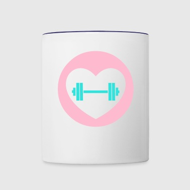 Workout Love - Contrast Coffee Mug