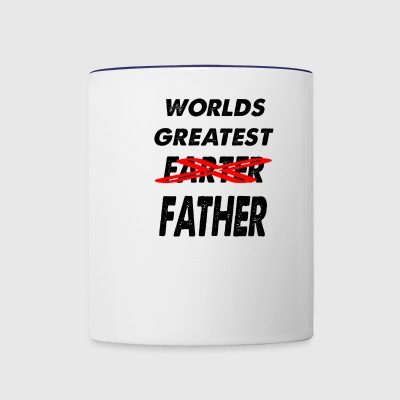 worlds great farter - Contrast Coffee Mug