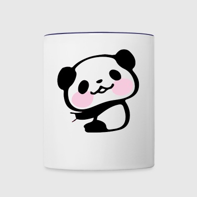 Funny Cute Kawaii Panda Hanging On Graphic - Contrast Coffee Mug