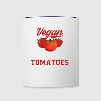 Tomatoes Vegan Vegan From My Head Tomatoes - Contrast Coffee Mug
