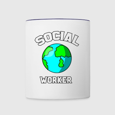 Social worker - Contrast Coffee Mug