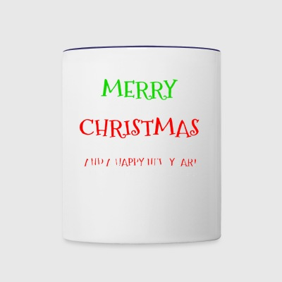 Merry Christmas And A Happy New Year Braille Dots - Contrast Coffee Mug