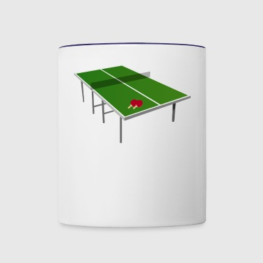 table tennis - Contrast Coffee Mug