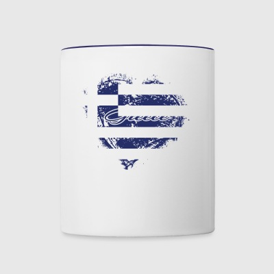 HOME ROOTS COUNTRY GIFT LOVE Greece - Contrast Coffee Mug