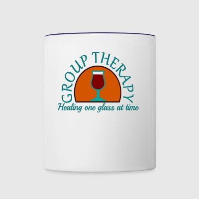 Group Therapy Healing One Glass At A Time - Contrast Coffee Mug