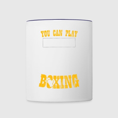Shirt for boxing lover as a gift - Contrast Coffee Mug