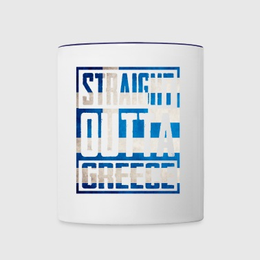 Straight Outta greece - Contrast Coffee Mug