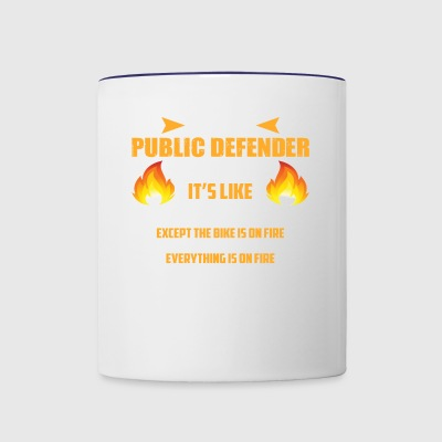 Being a Public Defender Is Easy Tee - Contrast Coffee Mug