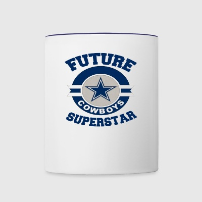 Future Cowboy Superstar Funny Texas Team Fan Tee - Contrast Coffee Mug