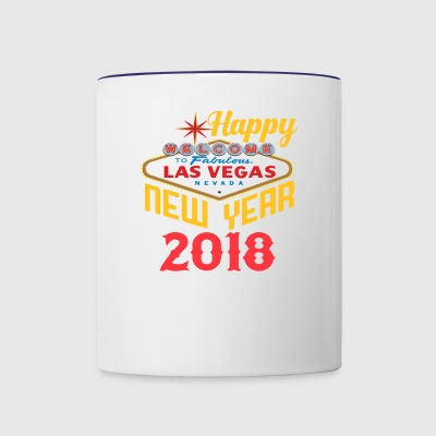 Las Vegas Happy New Year t shirt - Contrast Coffee Mug