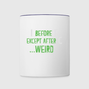 weird - Contrast Coffee Mug
