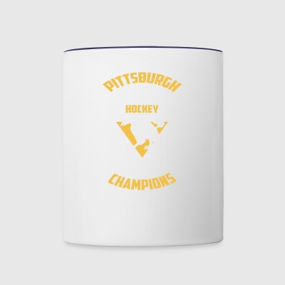 Pittsburgh Hockey 5 Times Cup Champions Cool Pengu - Contrast Coffee Mug