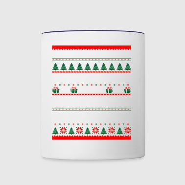 2017 First Christmas Awesome Brother Ugly Sweater - Contrast Coffee Mug