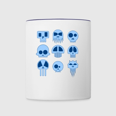 Nine Blue Skulls - Contrast Coffee Mug