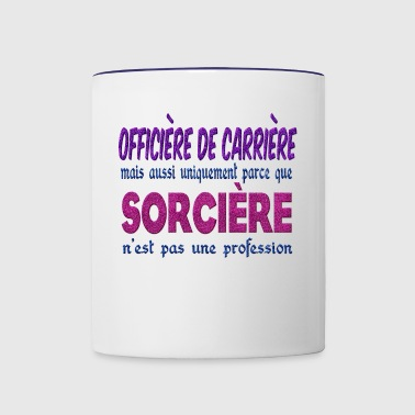 Witch Officer Career - Contrast Coffee Mug