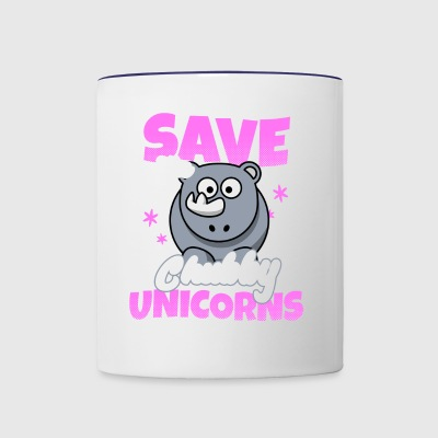 Shirt for lovers of chubby unicorns as a gift - Contrast Coffee Mug