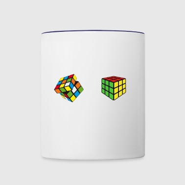 How To Solve Puzzle Cube - Funny Cubing - Contrast Coffee Mug