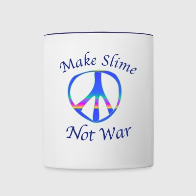 Make Slime Not War - Contrast Coffee Mug