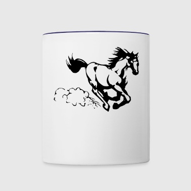 Galloping horse - Contrast Coffee Mug