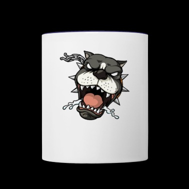 Furious dog - Contrast Coffee Mug