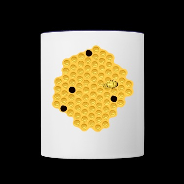Honeycomb Bee Bumble Gift Present - Contrast Coffee Mug