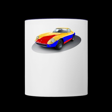 racing car - Contrast Coffee Mug