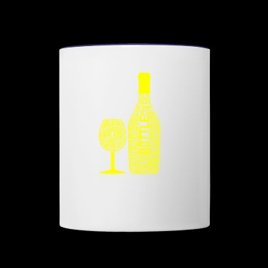 GIFT - BEER BOTTLE YELLOW - Contrast Coffee Mug