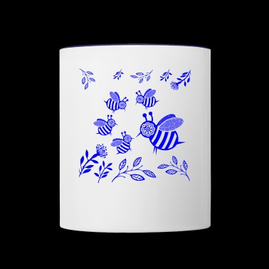 GIFT - HONEY BEE BLUE - Contrast Coffee Mug