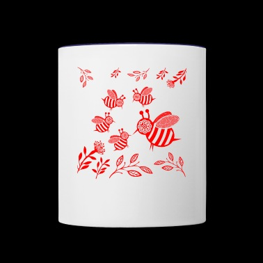 GIFT - HONEY BEE RED - Contrast Coffee Mug